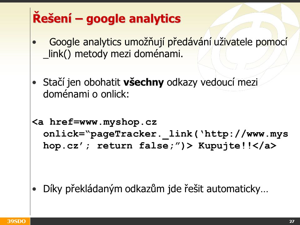 Řešení – google analytics