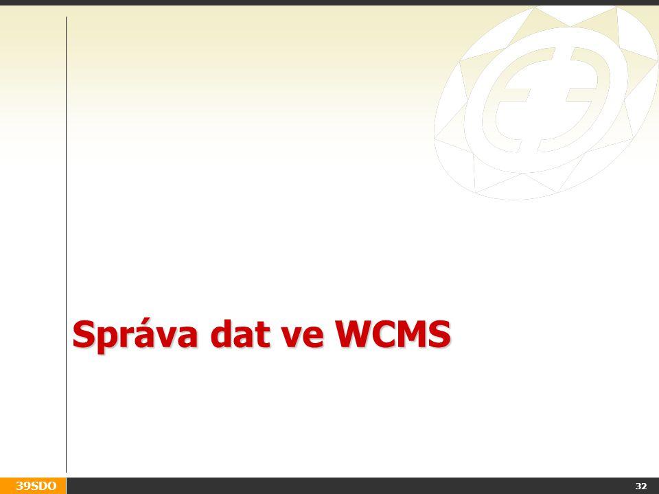 Správa dat ve WCMS
