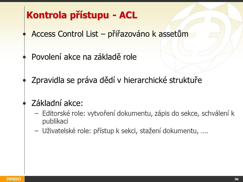 Kontrola přístupu - ACL