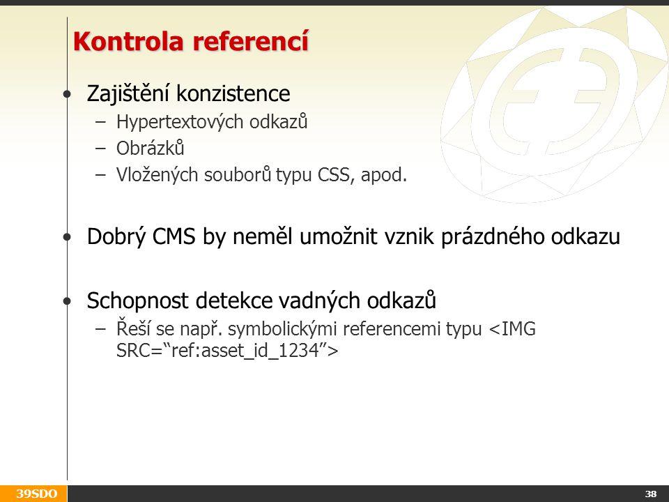 Kontrola referencí Zajištění konzistence