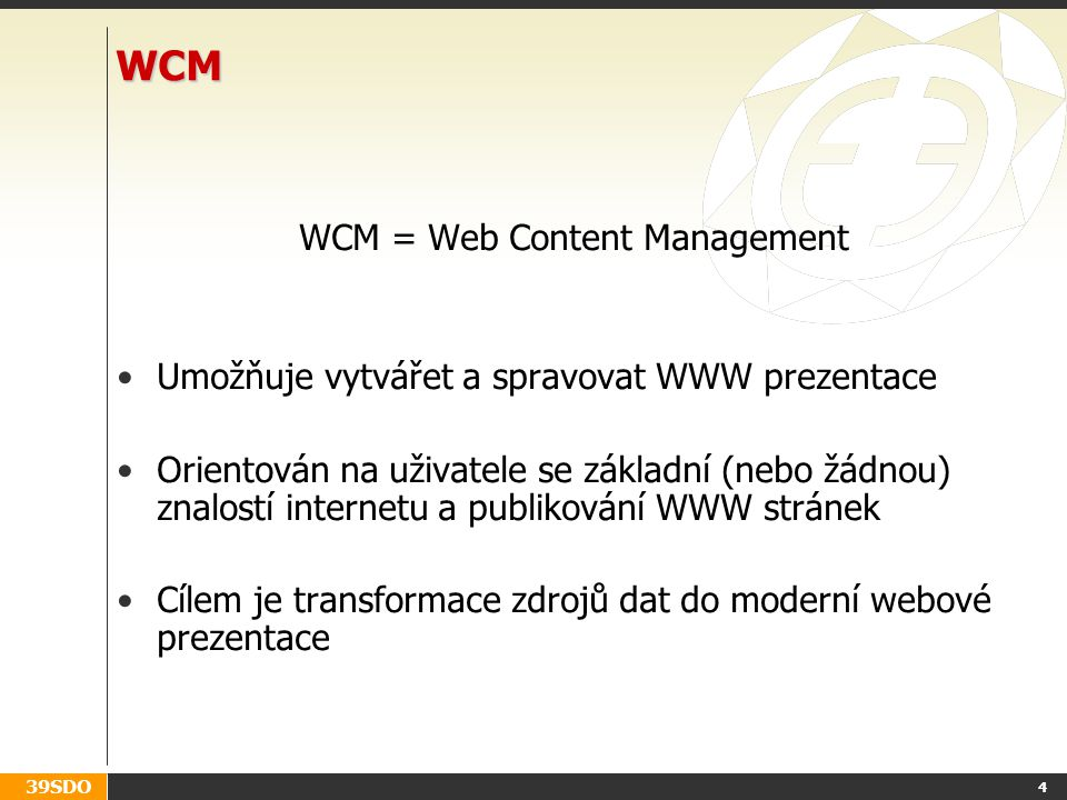 WCM = Web Content Management