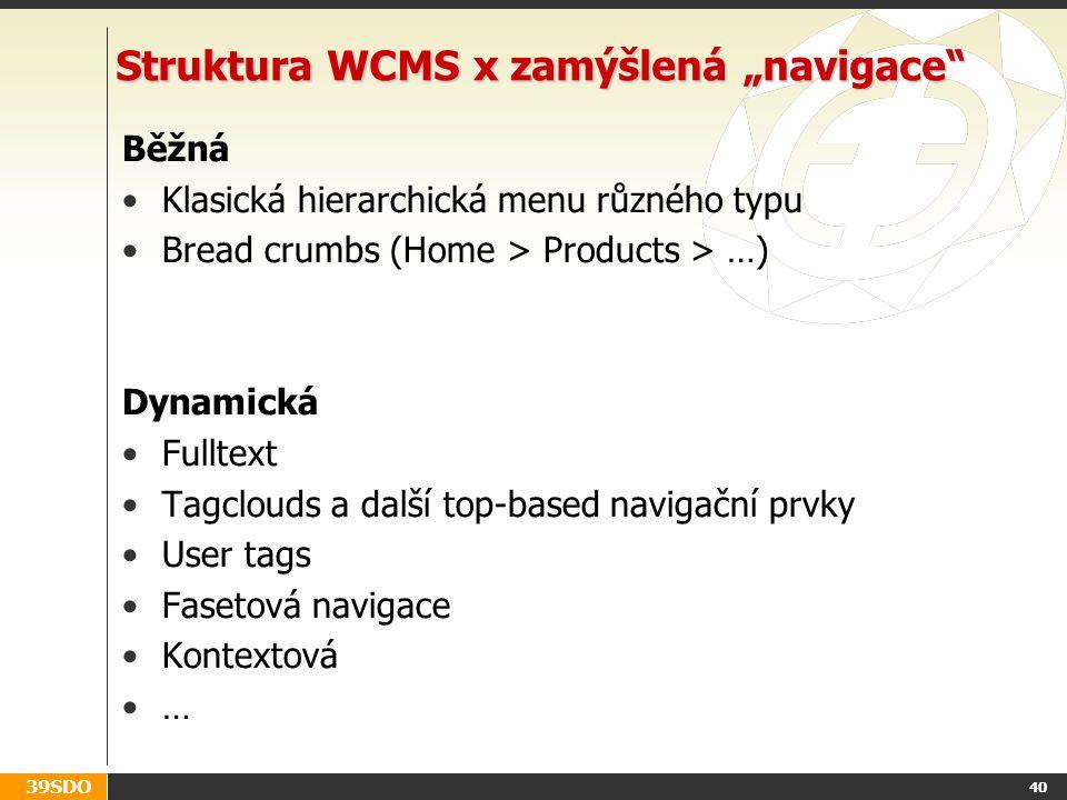 """Struktura WCMS x zamýšlená """"navigace"""
