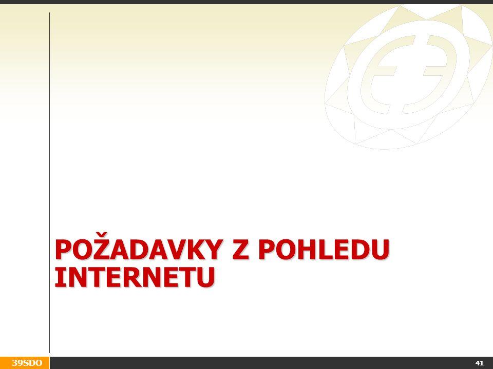 Požadavky z pohledu internetu