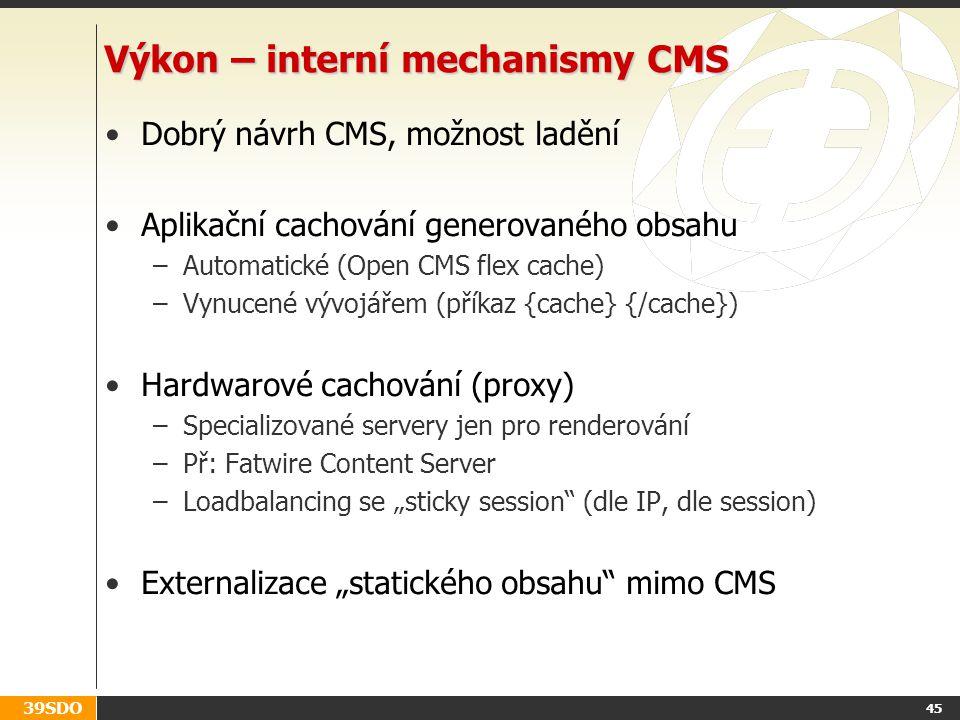 Výkon – interní mechanismy CMS