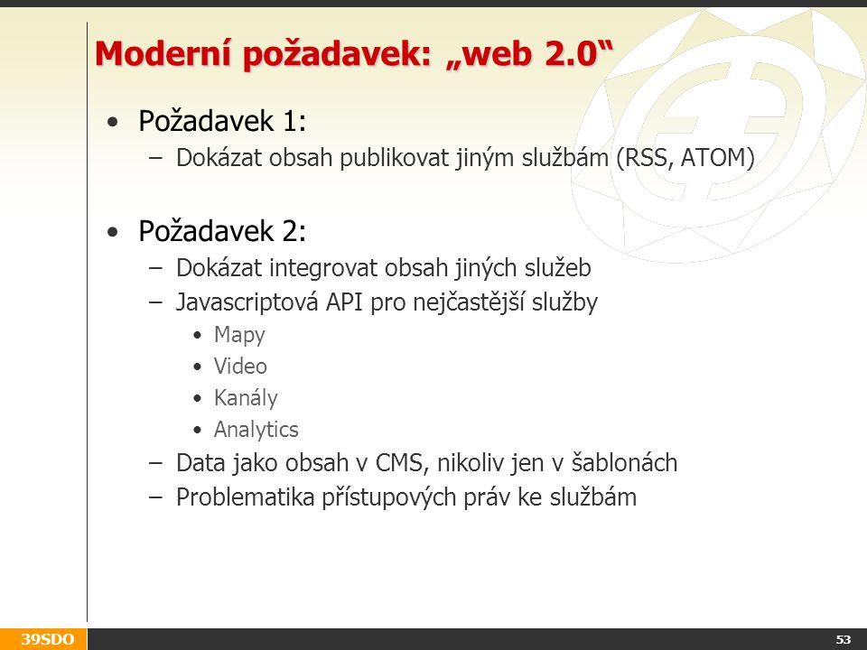 """Moderní požadavek: """"web 2.0"""