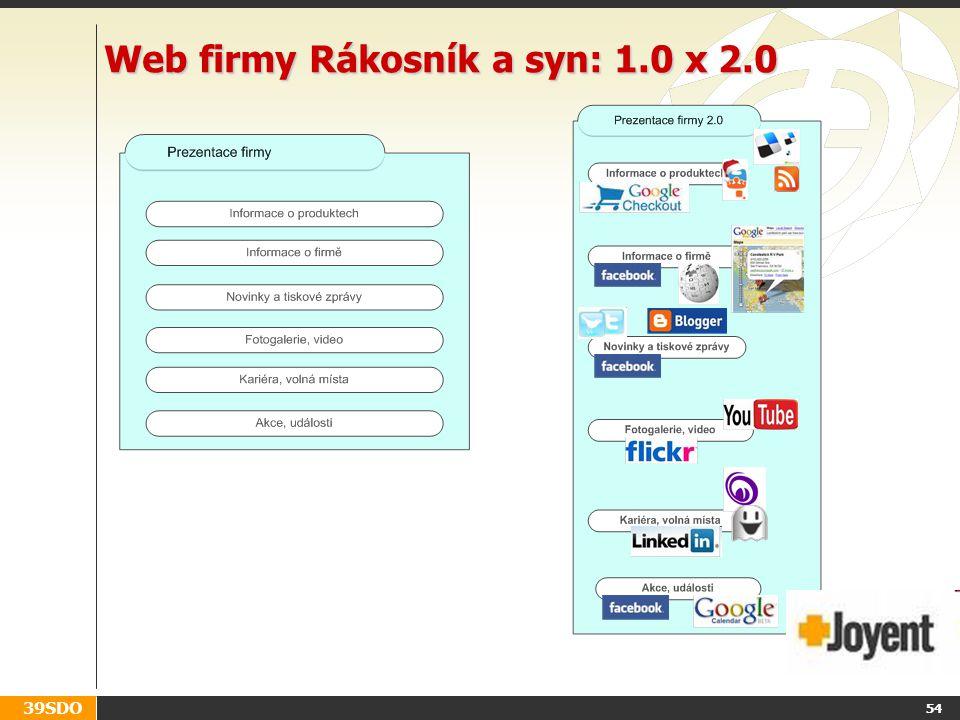 Web firmy Rákosník a syn: 1.0 x 2.0