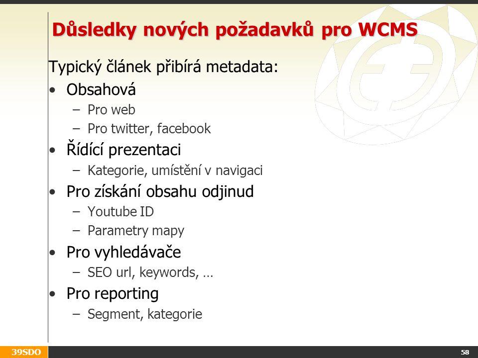 Důsledky nových požadavků pro WCMS