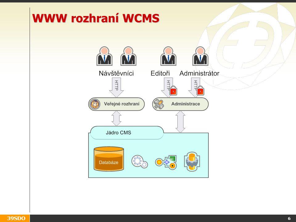 WWW rozhraní WCMS