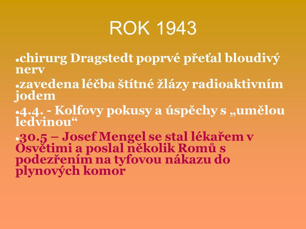 ROK 1943 chirurg Dragstedt poprvé přeťal bloudivý nerv