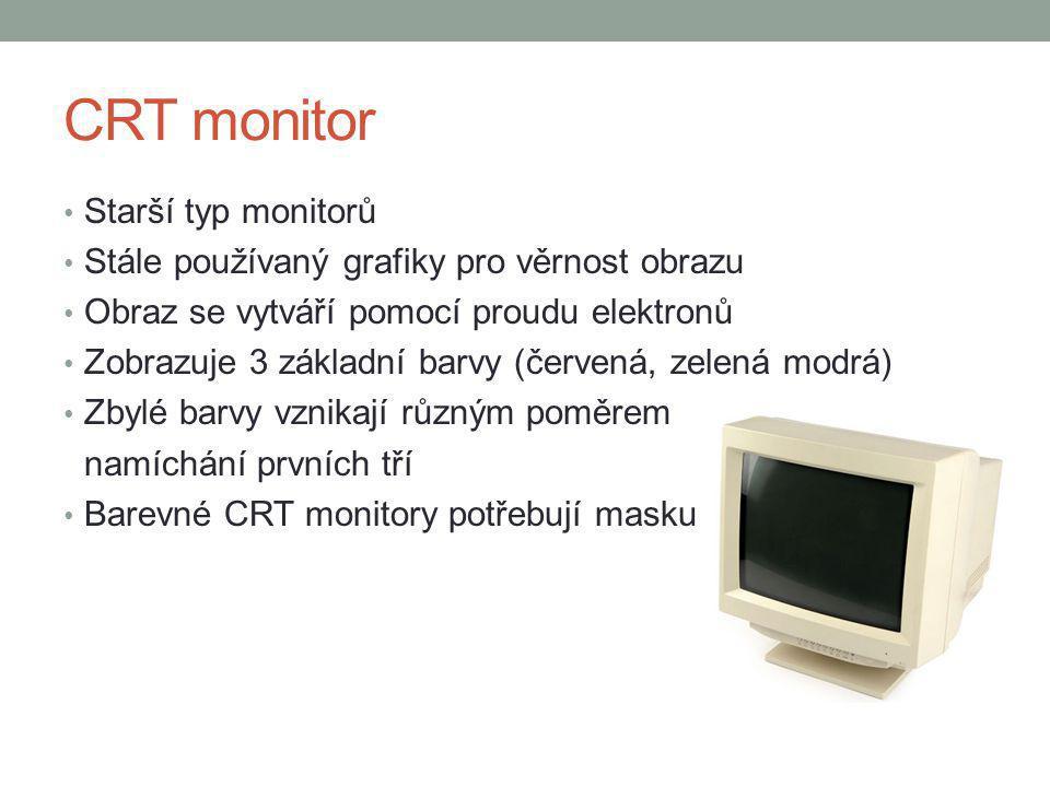 CRT monitor Starší typ monitorů