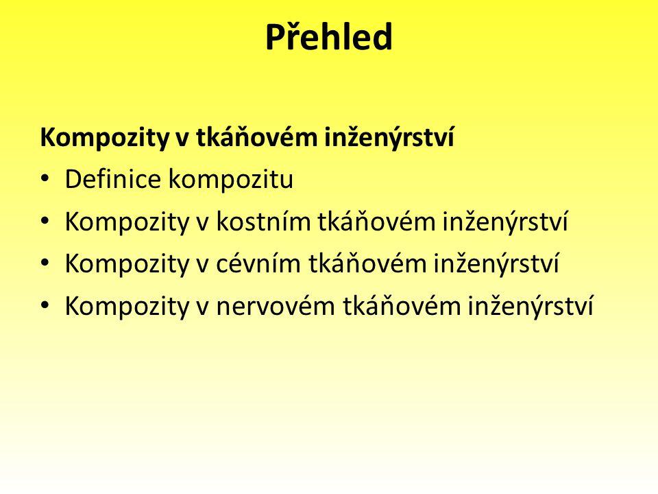 Přehled Kompozity v tkáňovém inženýrství Definice kompozitu