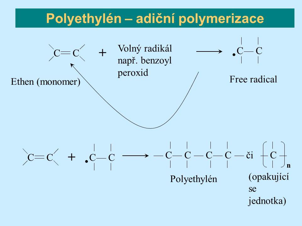 Polyethylén – adiční polymerizace