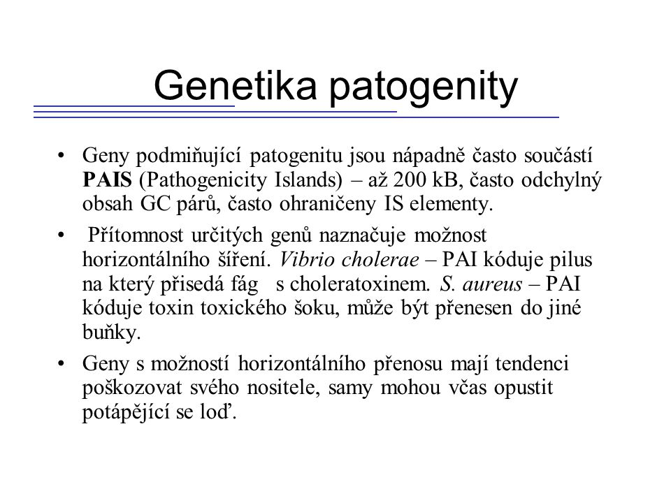 Genetika patogenity