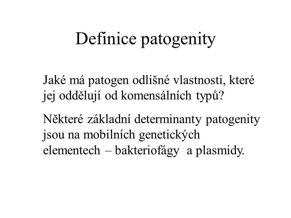 Definice patogenity Jaké má patogen odlišné vlastnosti, které jej oddělují od komensálních typů