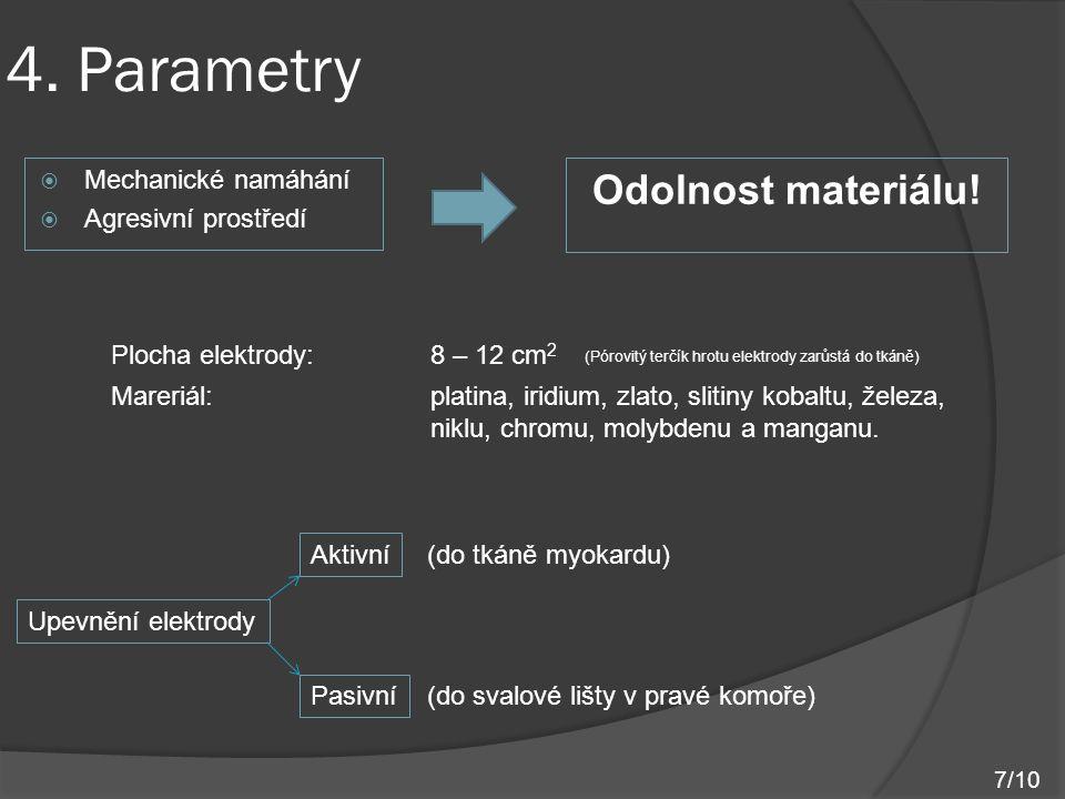 4. Parametry Odolnost materiálu! Mechanické namáhání