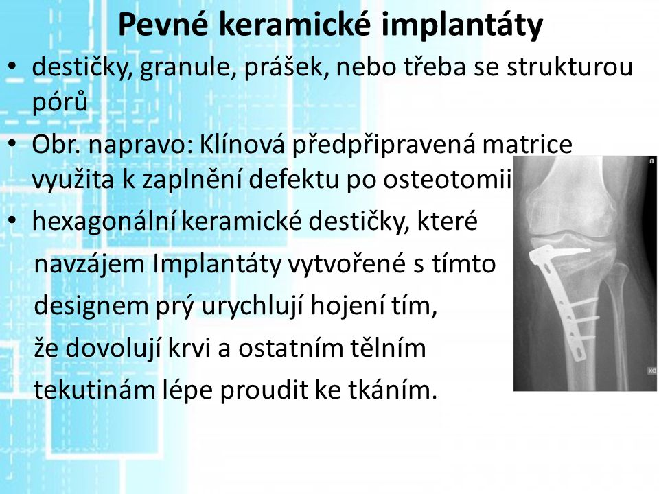 Pevné keramické implantáty
