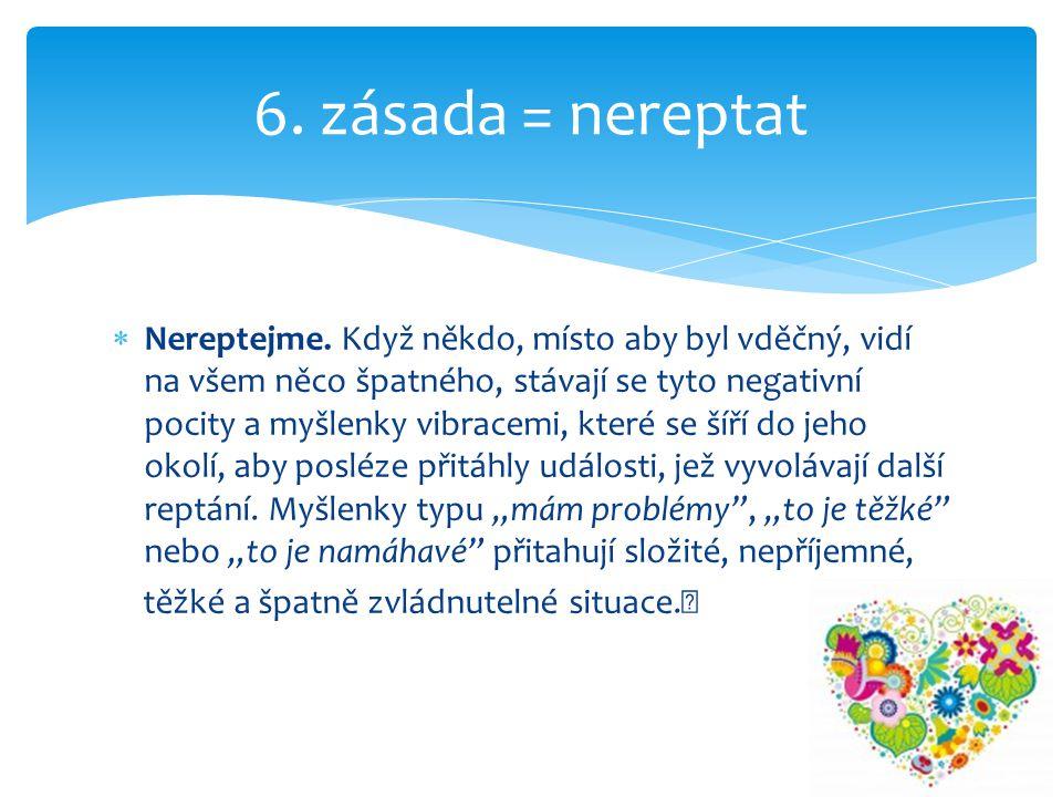 6. zásada = nereptat