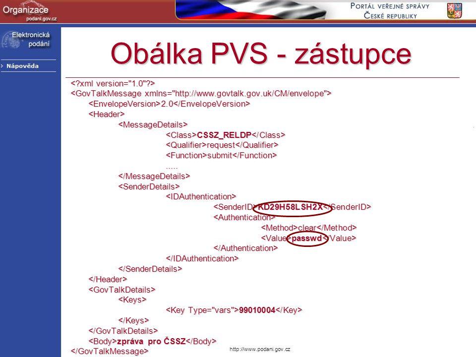 Obálka PVS - zástupce < xml version= 1.0 >