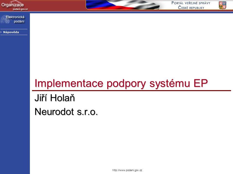 Implementace podpory systému EP
