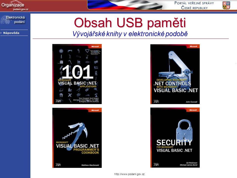 Obsah USB paměti Vývojářské knihy v elektronické podobě