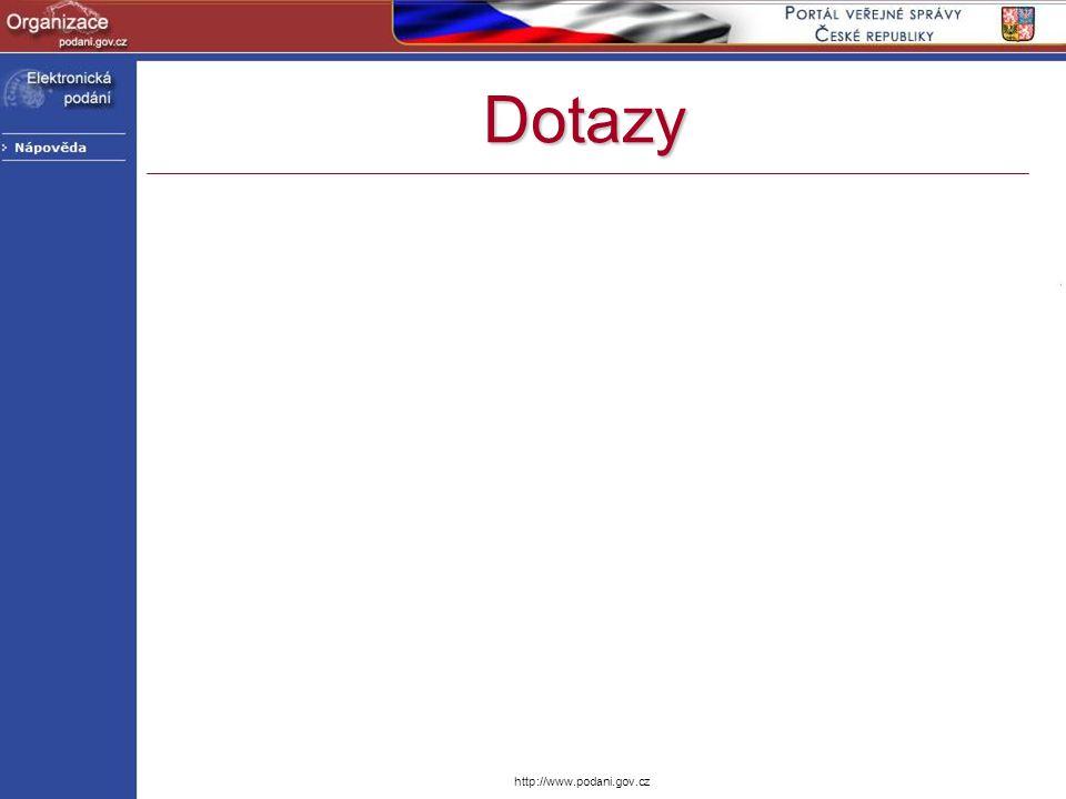Dotazy http://www.podani.gov.cz