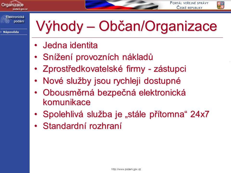 Výhody – Občan/Organizace