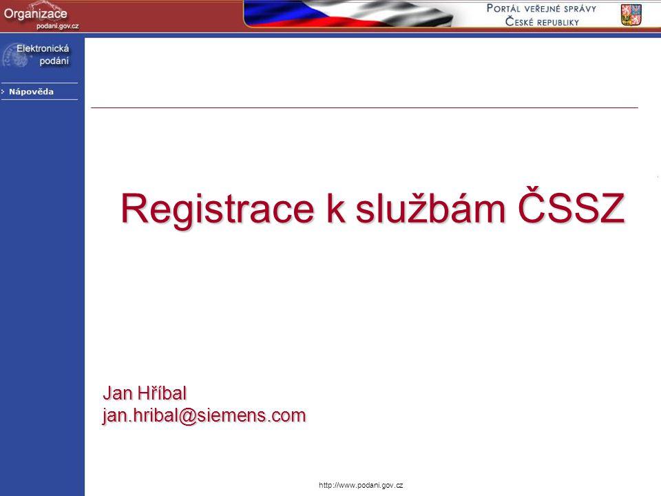 Registrace k službám ČSSZ