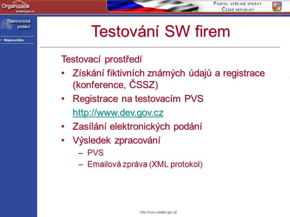 Testování SW firem Testovací prostředí