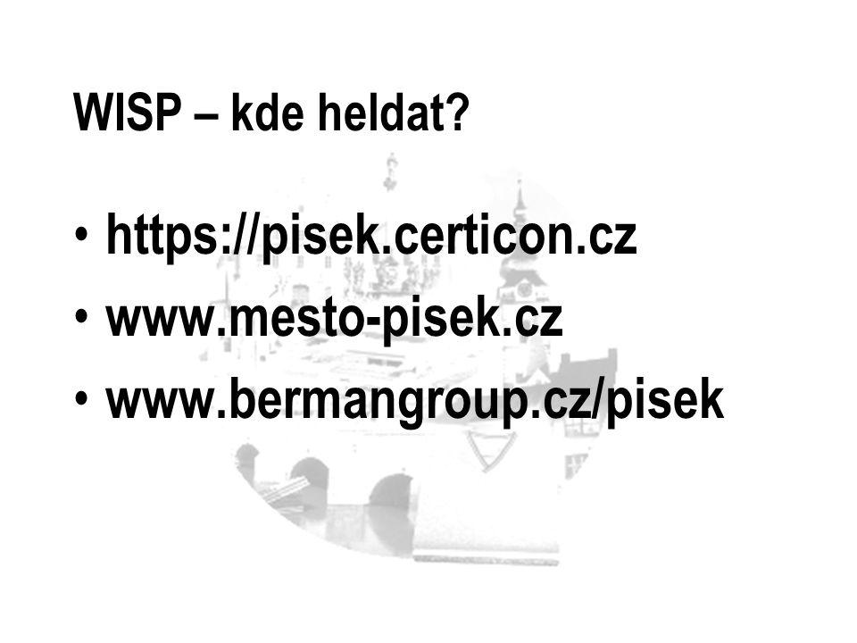 https://pisek.certicon.cz www.mesto-pisek.cz www.bermangroup.cz/pisek