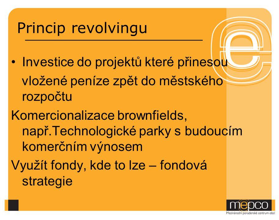 Princip revolvingu Investice do projektů které přinesou