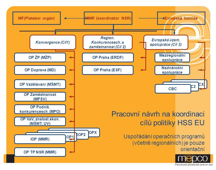 Pracovní návrh na koordinaci cílů politiky HSS EU
