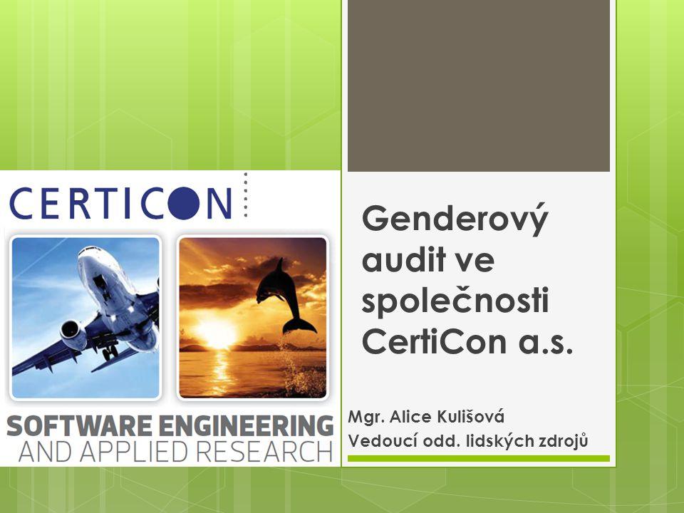 Genderový audit ve společnosti CertiCon a.s.