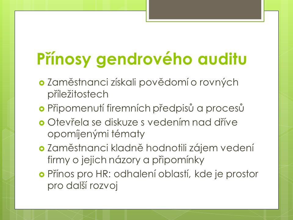 Přínosy gendrového auditu