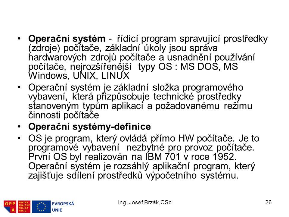 Operační systémy-definice