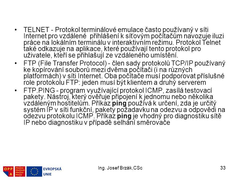 TELNET - Protokol terminálové emulace často používaný v síti Internet pro vzdálené přihlášení k síťovým počítačům navozuje iluzi práce na lokálním terminálu v interaktivním režimu. Protokol Telnet také odkazuje na aplikace, které používají tento protokol pro uživatele, kteří se přihlašují ze vzdáleného umístění.