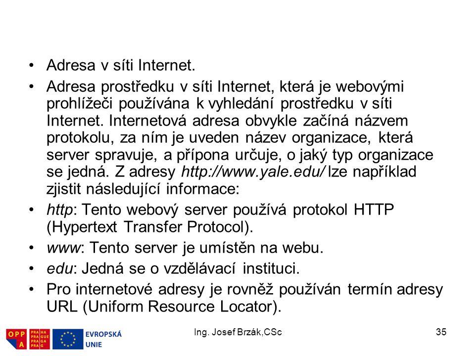 www: Tento server je umístěn na webu.