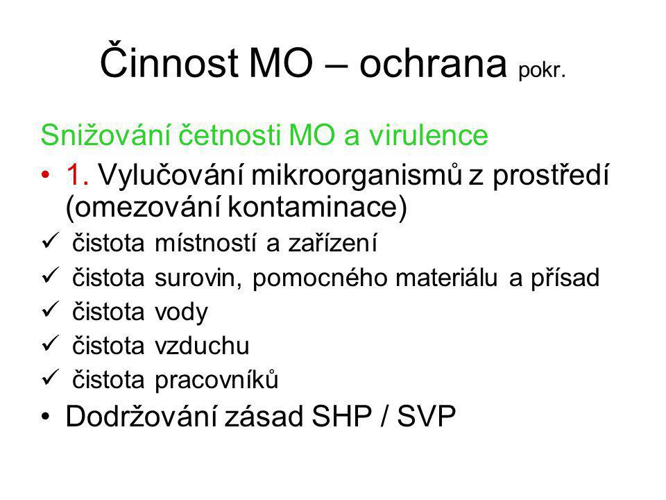 Činnost MO – ochrana pokr.