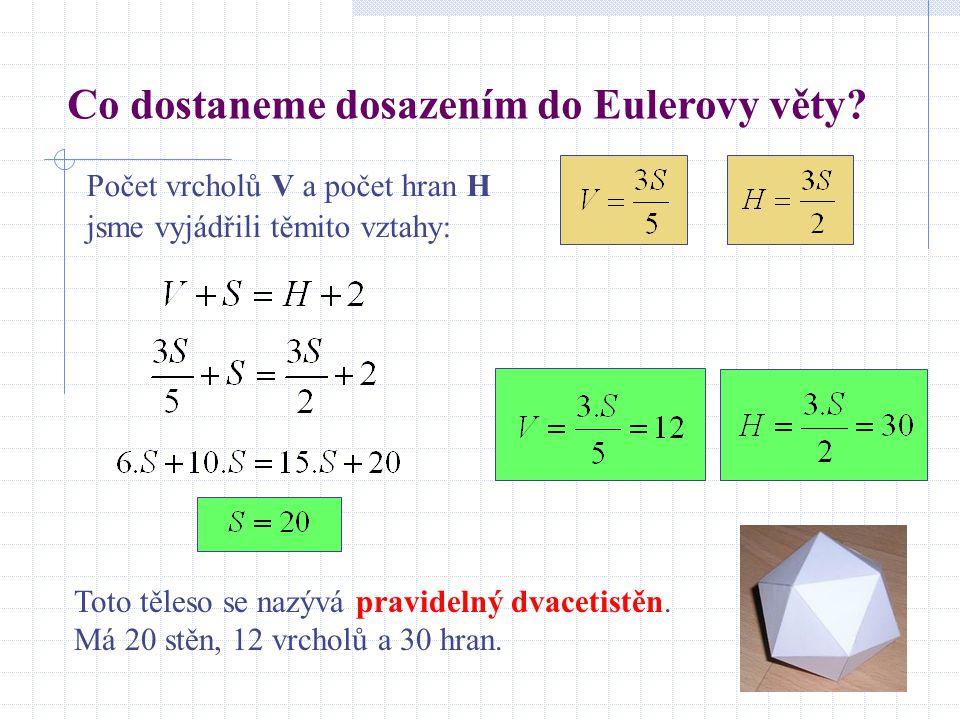 Co dostaneme dosazením do Eulerovy věty