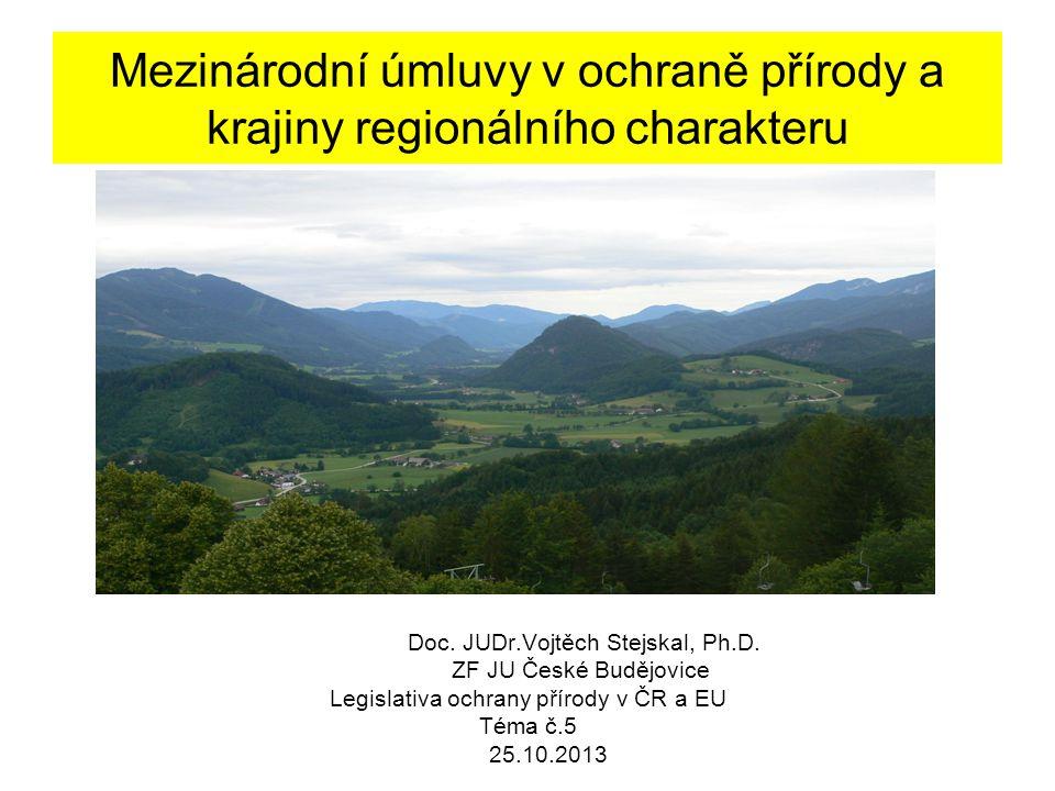 Mezinárodní úmluvy v ochraně přírody a krajiny regionálního charakteru