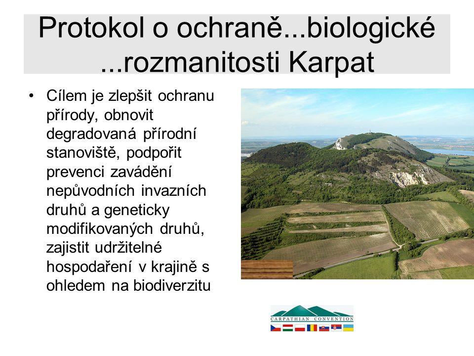Protokol o ochraně...biologické ...rozmanitosti Karpat