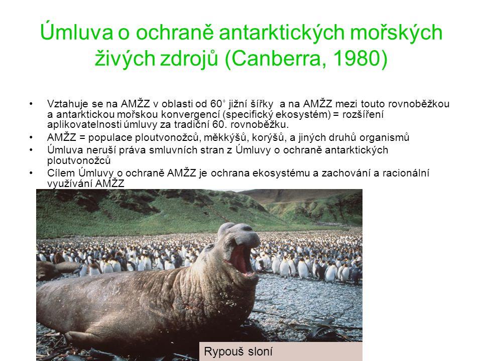 Úmluva o ochraně antarktických mořských živých zdrojů (Canberra, 1980)