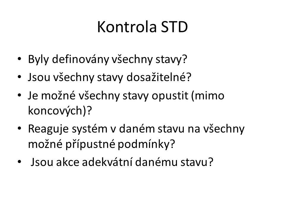 Kontrola STD Byly definovány všechny stavy