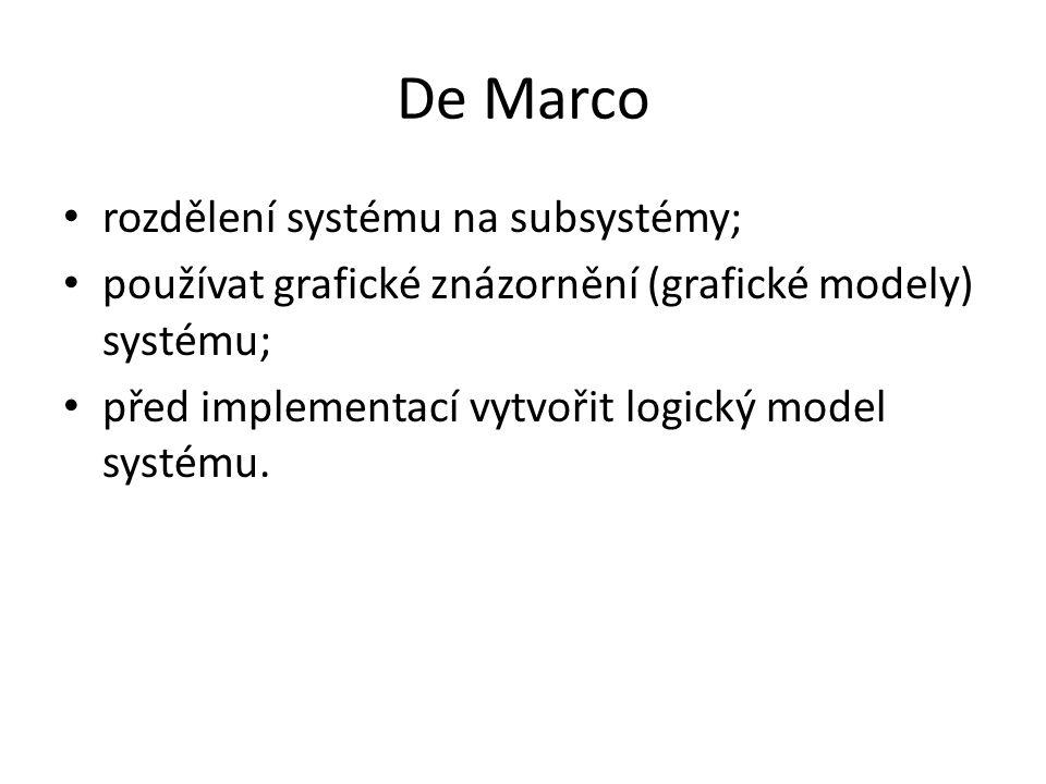 De Marco rozdělení systému na subsystémy;