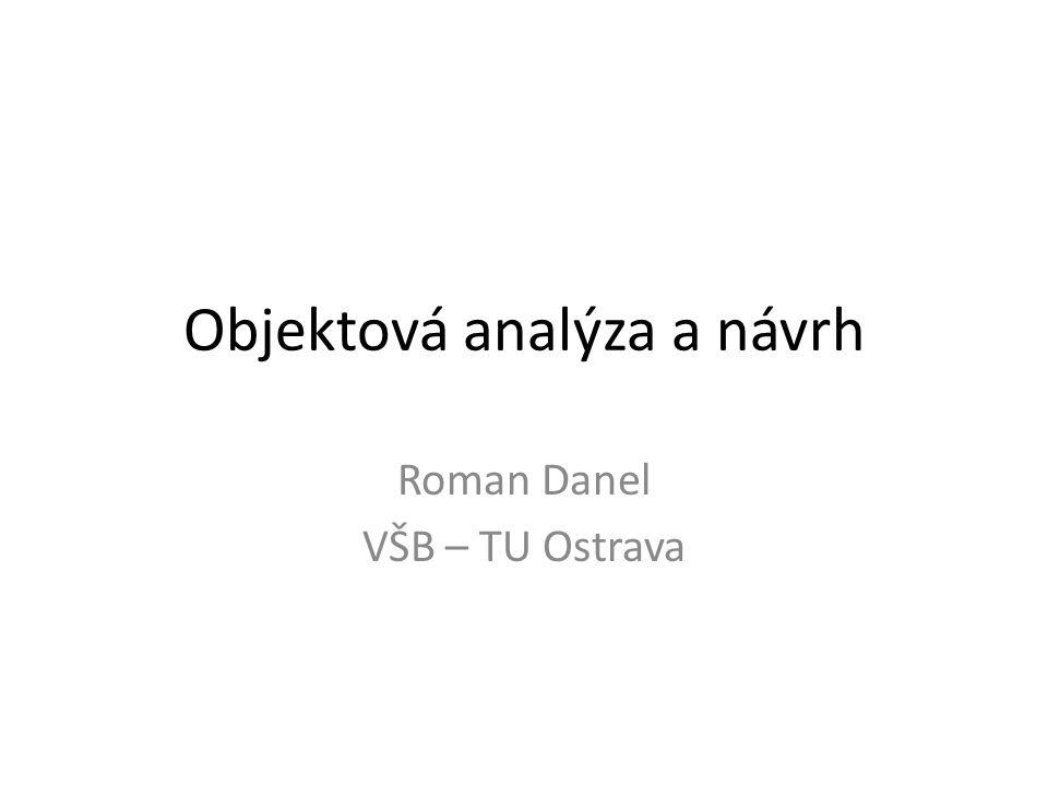 Objektová analýza a návrh