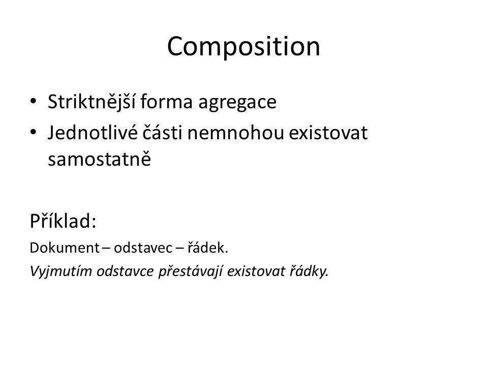 Composition Striktnější forma agregace
