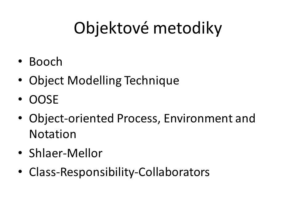 Objektové metodiky Booch Object Modelling Technique OOSE
