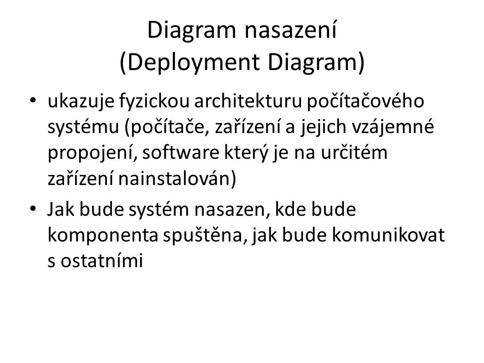 Diagram nasazení (Deployment Diagram)