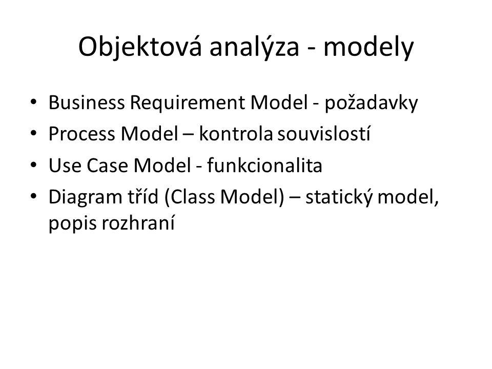 Objektová analýza - modely