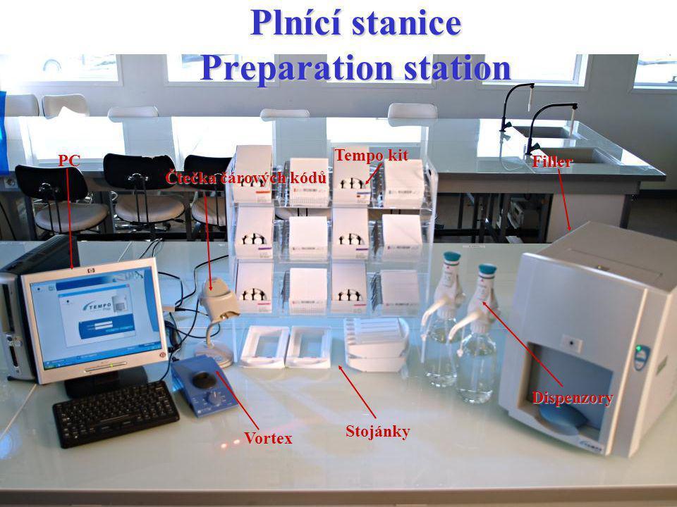 Plnící stanice Preparation station