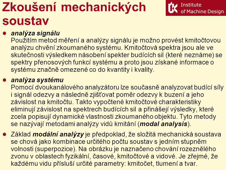 Zkoušení mechanických soustav